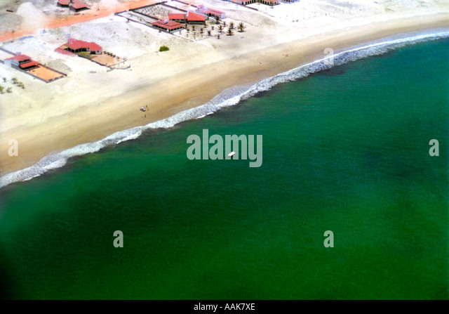 Aerial View of Northeast Coast of Rio Grande do Norte Brazil - Stock Image