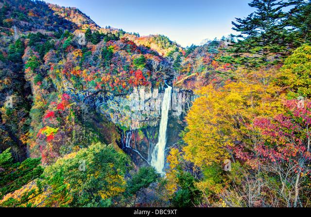 Kegon Falls in Nikko, Japan. - Stock Image