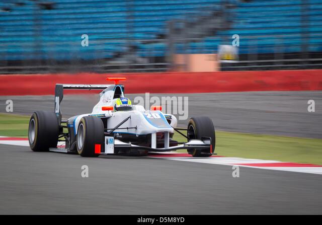 GP3 GP3Series Silverstone Test motor racing motor sport auto racing cars track northampton england - Stock Image