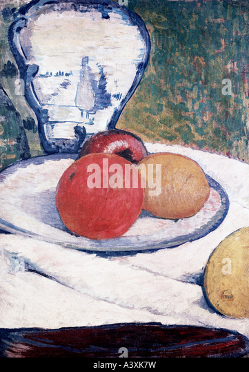 'fine arts, Gauguin, Paul, (1848 - 1903), painting, 'still life', private property, Munich, historic, - Stock Image