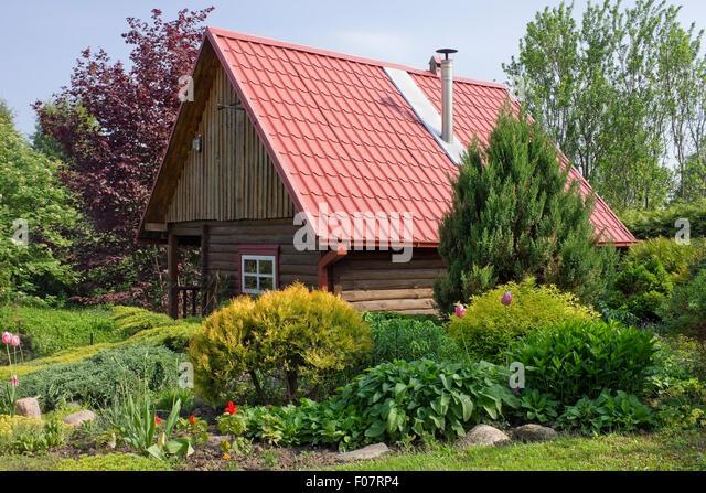 green garden shed roof stock photos green garden shed. Black Bedroom Furniture Sets. Home Design Ideas