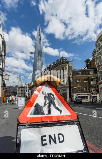 The Shard by Architect t Renzo Piano, Southwalk, Clouds, London, UK - Stock Image