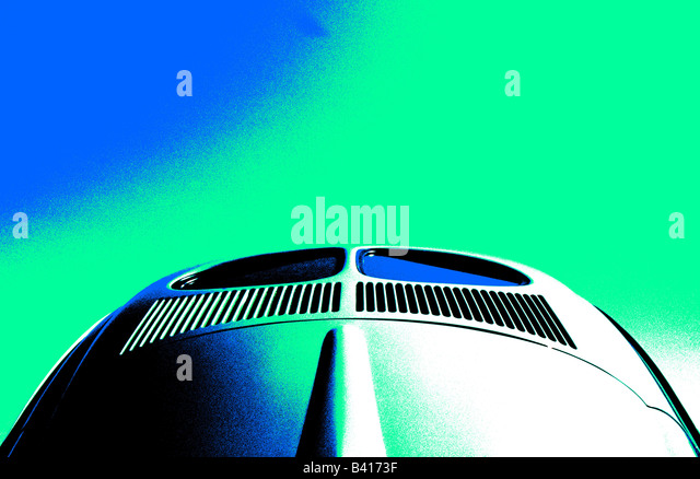 Volkswagen Beetle. car auto classic art abstract - Stock Image