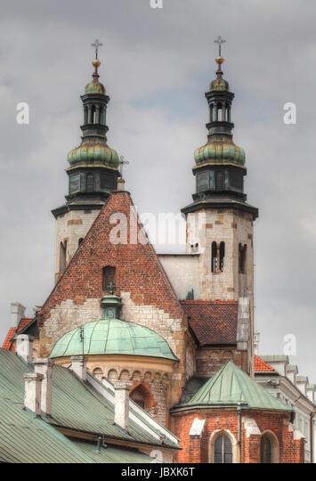 St. Andrew´s Church in the Grodzka street , Stare Miasto old town, Krakow, Lesser Poland, Poland, Europe - Stock-Bilder