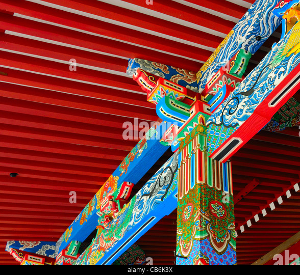 Temple detail at Eikan-do in Kyoto, Japan. - Stock-Bilder