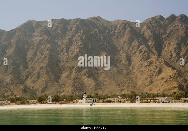 Oman Musandam peninsula Zagy mosque - Stock Image