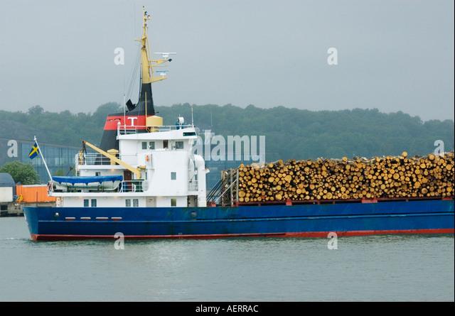Sweden, Goteborg, Goteborg Harbor, Timber Ship Stock Photo