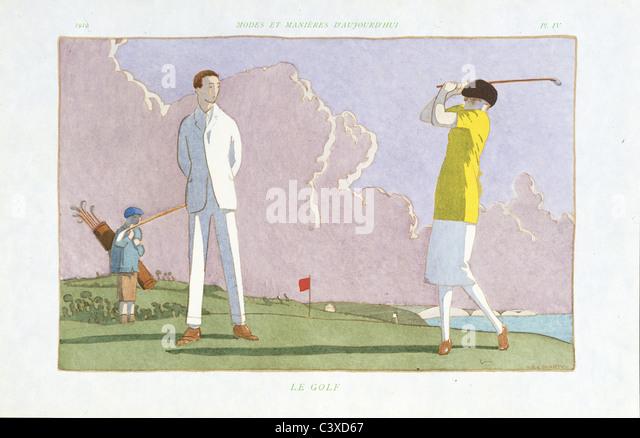 Le Golf, published by Pierre Corrard. Paris, France, 1914-22 - Stock-Bilder