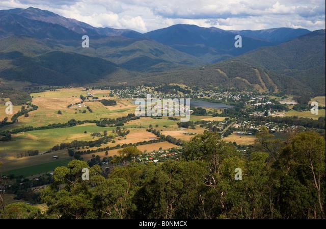 Mount Beauty township, Victoria, Australia - Stock-Bilder