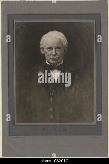 Lloyd George, David - Stock Image