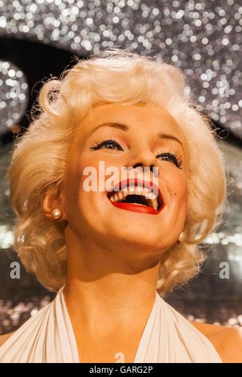 England, London, Madame Tussauds, Wax Figure of Marilyn Monroe - Stock Image