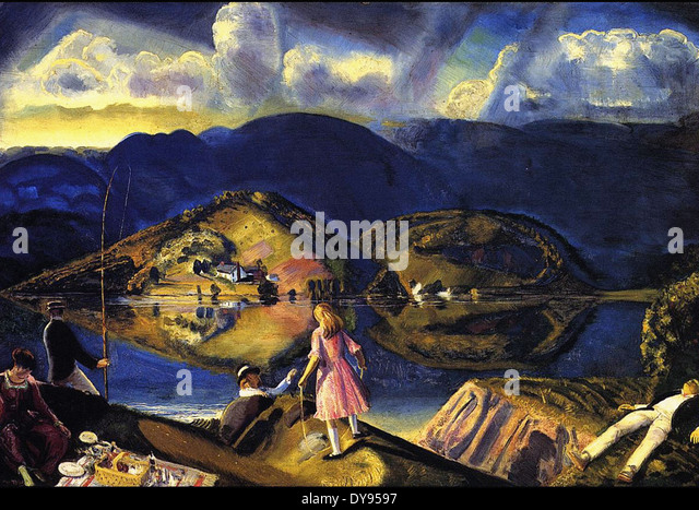 George Wesley Bellows The Picnic - Stock Image