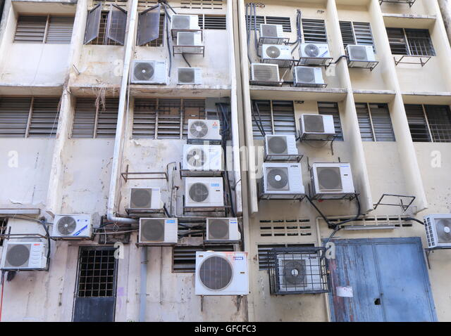 Air conditioning unit city stock photos air conditioning for Window unit air conditioner malaysia