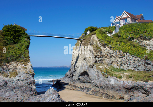 Towan Beach, Newquay, Cornwall, England, United Kingdom, Europe - Stock Image
