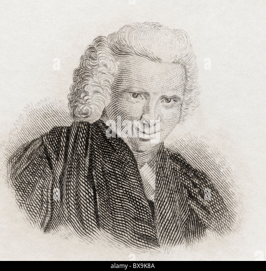 Laurence Sterne, 1713 to 1768. English novelist and Anglican clergyman. - Stock Image