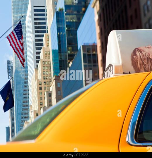 Modern architecture of buildings, Manhattan, New York City, New York, United States of America, North America - Stock Image