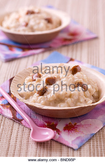 Rice pudding, Normandie - Stock Image