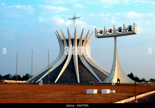 Metropolitan Cathedral Brasilia Brazil - Stock Image