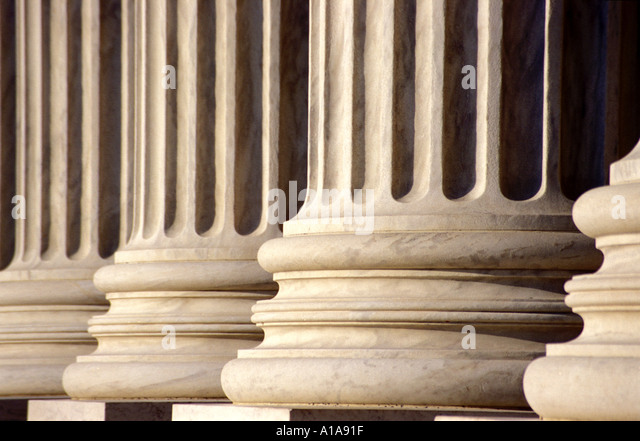 US Supreme Court Building Columns, Washington D.C. - Stock Image