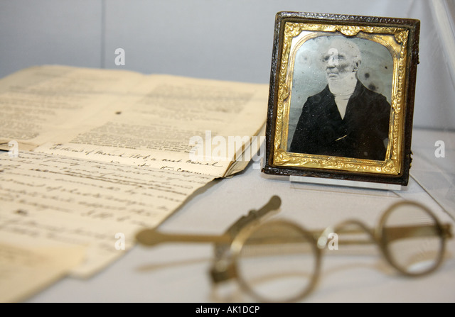 England UK Haworth Church Street Bronte Parsonage Museum Bronte Sisters writers novelists - Stock Image