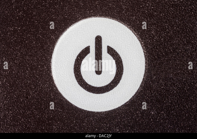 Remote control power button extreme macro detail. - Stock Image