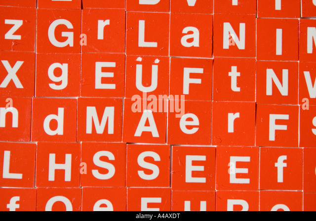 white letters on red . Photo by Willy Matheisl - Stock Image