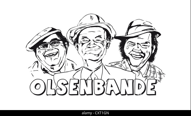 Caricature of the Olsenbande by the illustrator Torsten Becker - Stock Image