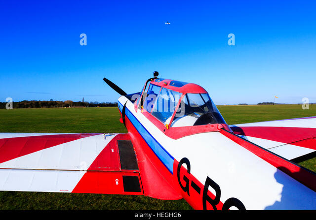 de Havilland Canada Chipmunk DHC-1 glider tug. - Stock Image