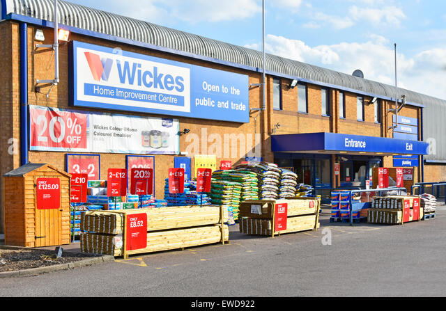 Wickes home improvement centre DIY & trade building materials store part of Travis Perkins group Brentwood, - Stock Image