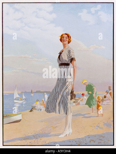 Advert Kodak Girl 1920s - Stock Image