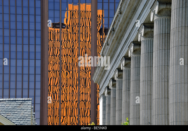 Architectural styles at The Temple Square, Salt Lake City, Utah, United States of America - Stock-Bilder