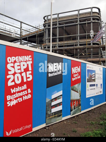 New Walsall Business and Sports hub, part of Walsall College, Black Country, west midlands, England, UK - Stock Image