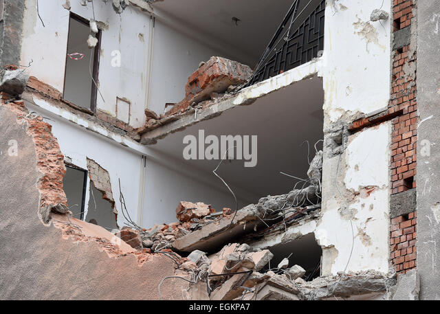 Building Demolition Before And After : Before and after building stock photos