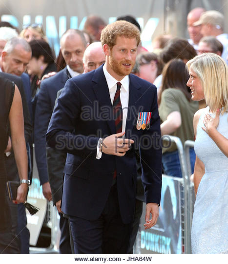 London, UK. 13th July, 2017. Prince Harry attends the 'Dunkirk' World Premiere at Odeon Leicester Square - Stock Image