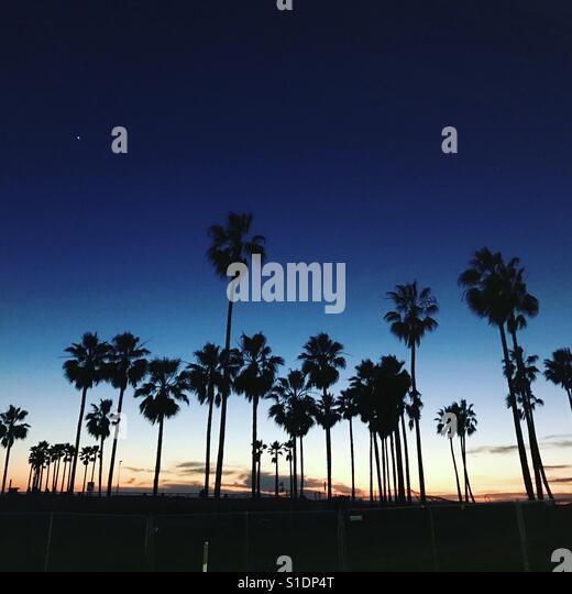 Californian sunset - Stock Image