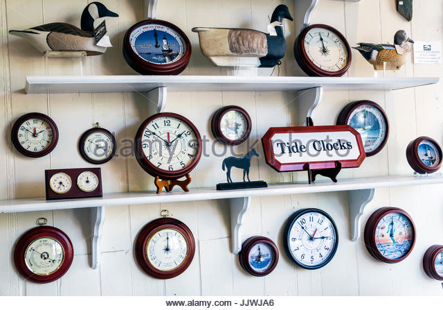South Carolina Georgetown Lowcountry historic district Front Street Maritime Museum tide clocks - Stock Image
