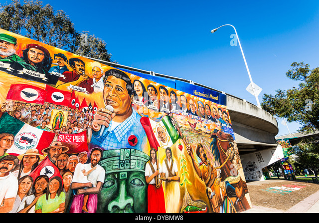Chicano art stock photos chicano art stock images alamy for Mural chicano
