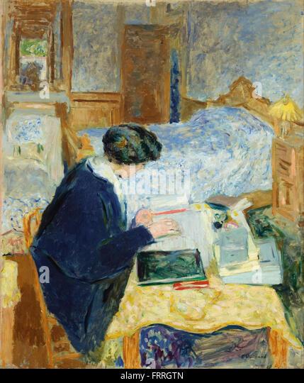 Edouard Vuillard - Lucy Hessel Reading (Lucy Hessel lisant) - Stock Image