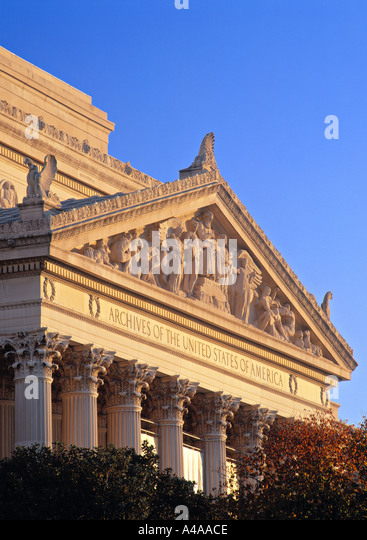 National Archives, Washington D.C., USA - Stock Image