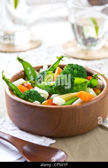 Broccoli ,Pea and Barley salad - Stock Image