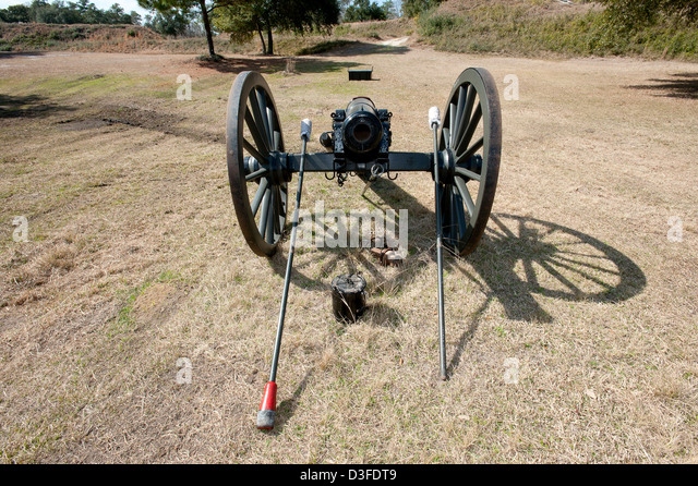 Civil War era cannon. - Stock Image