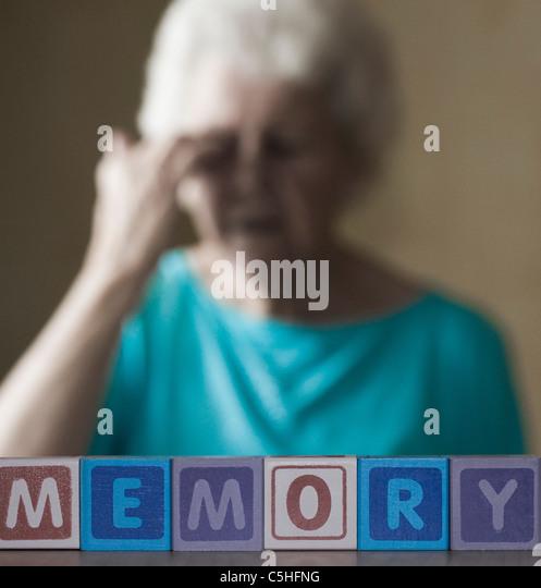 Alzheimer's disease, conceptual image - Stock Image
