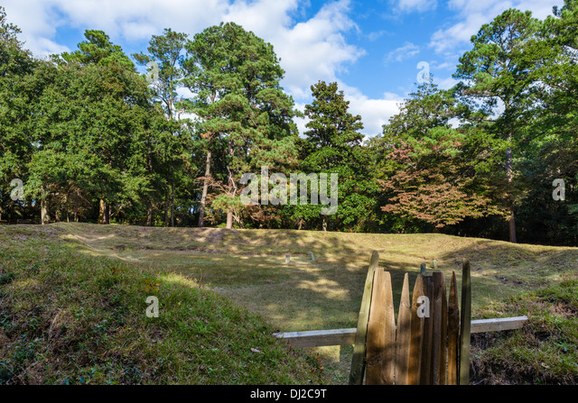 Reconstructed Earthen Fort at Fort Raleigh National Historic Site, Roanoke Island, North Carolina, USA - Stock Image