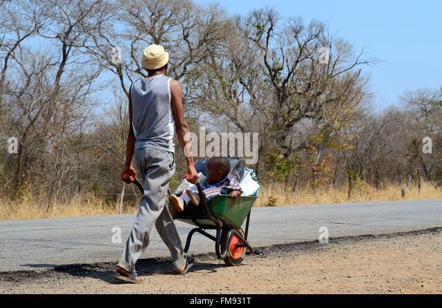 Zimbabwe, Matabeleland North Province - Stock Image