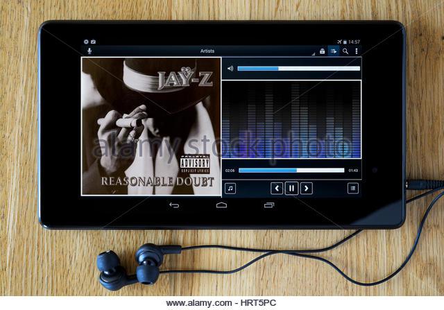 Jay Z 1996 debut album Reasonable Doubt. - Stock Image