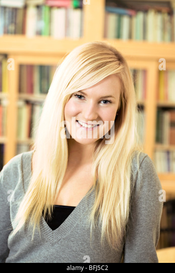 Portrait of a young Scandinavian woman, Sweden. - Stock Image