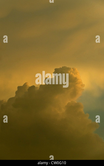 Thunderclouds developing in sky - Stock Image