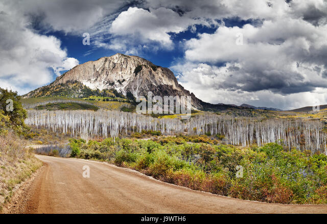 Kebler Pass and Marcellina Mountain view, Crested Butte, Colorado, USA - Stock Image