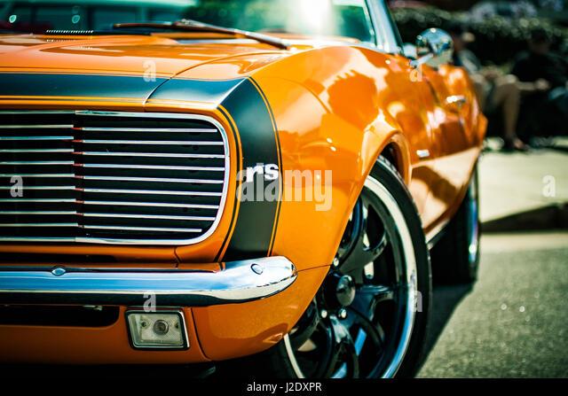 OrangeCamero0587   - Stock Image