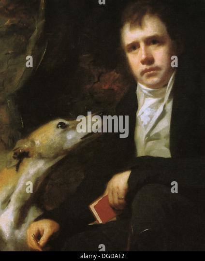 SIR WALTER SCOTT (1771-1832) Scottish historical novelist painted by Henry Raeburn about 1825 - Stock Image